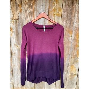 LULULEMON yoga cozy pullover ombré sweater tunic